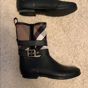 Burberry Buckle and Strap Rainboots